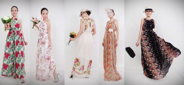 Fabulous Print Dress - ชุดราตรีผ้าลายพิมพ์