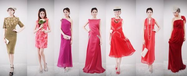 ชุดราตรีสีโทนอุ่นจากร้าน The Special Dress