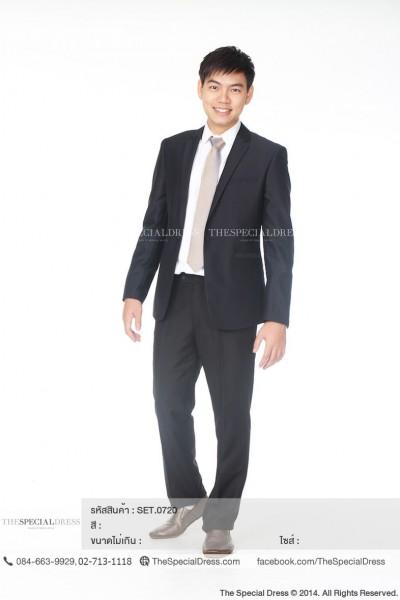 เสื้อสูทชายแขนยาว ผ้าเรียบ (SUIT.0408)  สี : ดำ  Size : 50 ขนาด: อก 39″ เอว 34″ สะโพก 38″ 52 ขนาด: อก 38″ เอว 35″ สะโพก 39″ 54 ขนาด: อก 40″ เอว 38″ สะโพก 44″   กางเกงขายาวผ้าเรียบ เข้าชุด (TRS.0415)  สี : ดำ  Size :  32 ขนาด: เอว 32″ สะโพก 34″ 34 ขนาด: เอว 34″ สะโพก 36″ 36 ขนาด: เอว 36″ สะโพก 38″ 38 ขนาด: เอว 38″ สะโพก 40″ 40 ขนาด: เอว 40″ สะโพก 42″