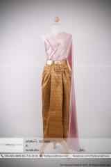 """ชุดไทย สไบผ้าซาติน (TC.0060)  สี : ครีม, ทอง, เงิน, ชมพู, ฟ้า  Size : F ขนาด: อก Free"""" เอว Free"""" สะโพก Free""""  ชุดไทย ผ้าถุงยาวหน้านาง ลายไทย (TLS.0059)  สี : ทอง, เขียว, ส้ม, เงิน, ชมพู, ลาเวนเดอร์, ฟ้าคราม, เขียวอ่อน  Size : S ขนาด: อก Free"""" เอว 26″ สะโพก 32″ M ขนาด: อก Free"""" เอว 28″ สะโพก 34″ L ขนาด: อก Free"""" เอว 30″ สะโพก 36″ XL ขนาด: อก Free"""" เอว 32″ สะโพก 38″"""